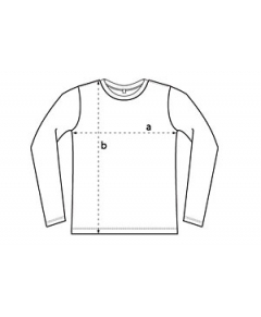 T-shirt Herr Earth Positive Långärmad