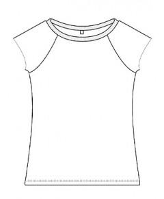 T-shirt Bambu, Raglan